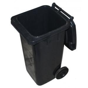 Kosz, Kubeł na śmieci GRUBY plastik grafit 120L
