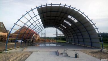 Hala Łukowa Magazynowa Stalowa tunelowa 11,8 x 45