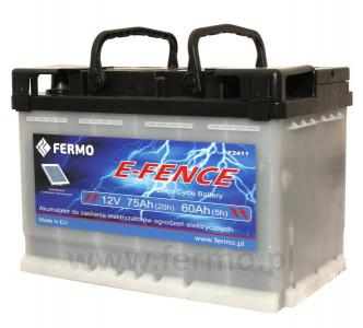 Akumulator do pastucha elektrycznego 75Ah E-FENCE