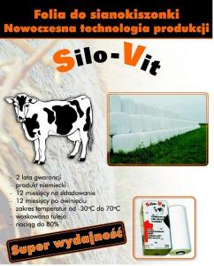 Folia kiszonkarska SILO-VIT Pryzma PREMIUM czarno-biała 6x25m