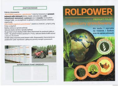 obornik kurzy granulowany ROLPOWER organiczny