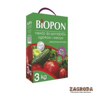 Nawóz do pomidorów, ogórków i warzyw BIOPON 3kg