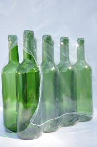 Butelki na wino 0,75l zielona – zgrzewka 8 szt.