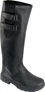 Buty zimowe Warmic skórzane czarne