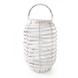 Lampion wiklinowy Biały 31cm