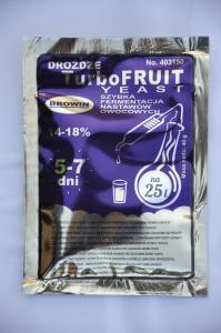 Drożdże Turbo Fruit do szybkiej fermentacji nastawów owocowych 40g