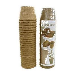 Doniczki torfowe OKRĄGŁE 10cm JIFFY 24 szt