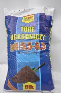 Tor ogrodniczy pH 5,5-6,5 do kwiatów i warzyw 80L TORF