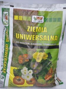 Ziemia uniwersalna do kwiatów, warzyw i trawników 5L TORF