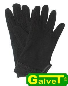 Rękawiczki bawełniane z rzepem - czarne, rozmiar L (31954SW-L)