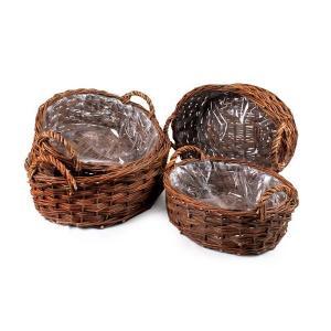Koszyk wiklinowy Taca OWALNY z uchwytami 50cm
