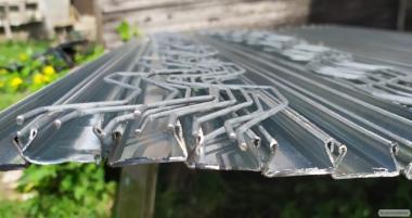 Cieplarnia pod folię z metalowym szkieletem