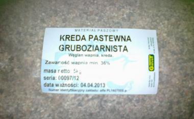GALVET kreda pastewna GRUBOZIARNISTA Ca.min.37,6% 5 KG