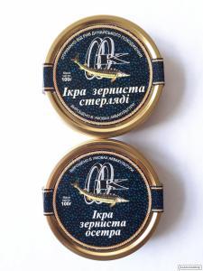 Kawior z ryby z jesiotru