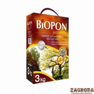 Nawóz jesienny uniwersalny do ogrodu BIOPON 3kg