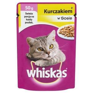 Saszetka Whiskas z kurczakiem w sosie Karma pełnoporcjowa 50 g