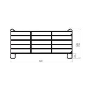 Panel ogrodzeniowy bez bramy 3,6m