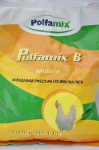 Polfamix B Brojlery 1kg – mieszanka paszowa uzupełniająca