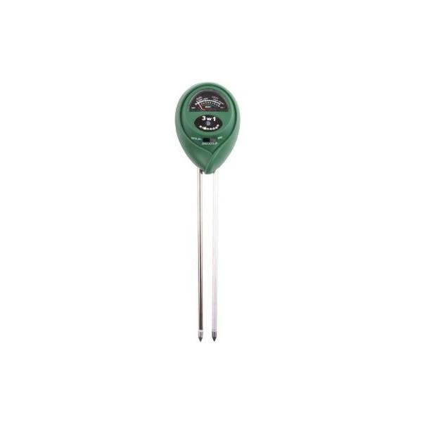 Tester podłoża 3w1 pH, Wilgotność, Nasłonecznienie