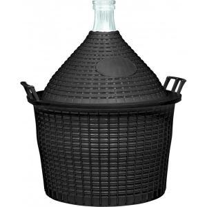 Balon na wino w plastikowym koszu WĄSKI wlew 15L