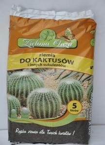 Ziemia do kaktusów i innych sukulentów 5L ZIELONA OAZA