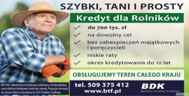 Szybki  i Tani Kredyt dla Rolników - cała Polska