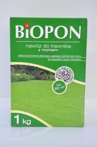 Nawóz do trawnika z mchem Biopon 1kg