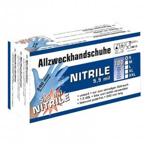 Uniwersalne rękawice nitrylowe S