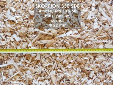 Profesjonalny rębak bębnowy do gałęzi TEKNAMOTOR Skorpion 350 SDB