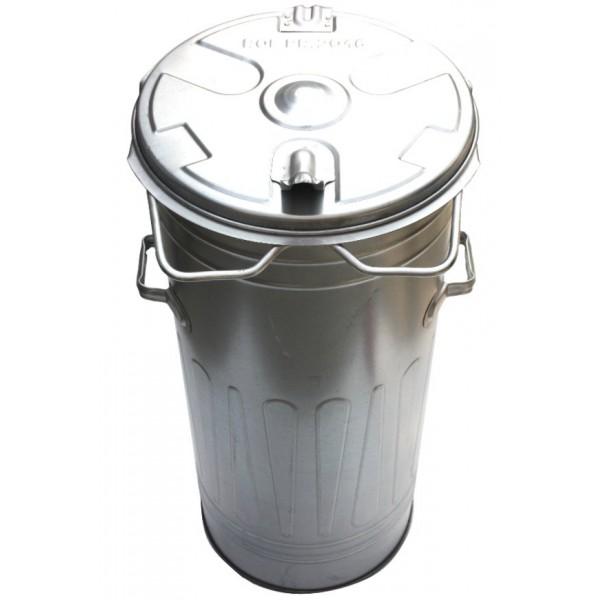 Kosz kubeł na śmieci i popiół ocynk 110L SOLIDNY