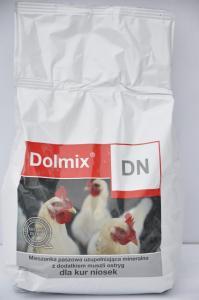 Dolmix DN 2,5kg – mieszanka paszowa uzupełniająca mineralna dla kur niosek