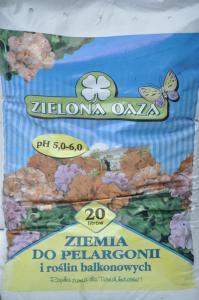 Ziemia do pelargonii i roślin balkonowych 20L ZIELONA OAZA