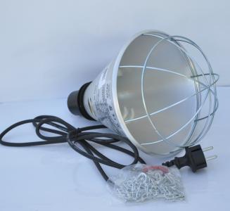 Oprawa promiennika z przełącznikiem mocy do ogrzewania zwierząt