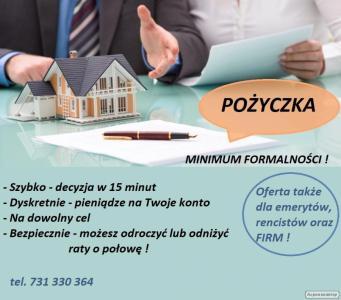 Pożyczka dla rolników - SZYBKO, minimum formalności (emeryt/renta też)